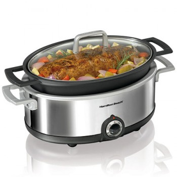 Hamilton Beach Premiere Cookware Slow Cooker Browning