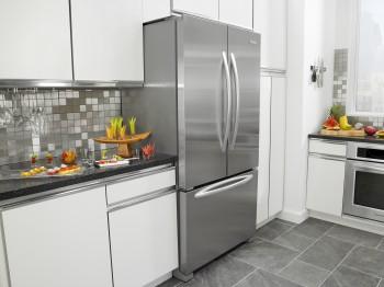 french door refrigerator in kitchen. KitchenAid French Door Refrigerator In Kitchen